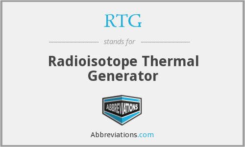 RTG - Radioisotope Thermal Generator
