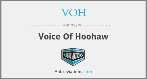 VOH - Voice Of Hoohaw