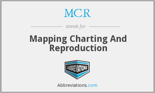 MCR - Mapping Charting And Reproduction