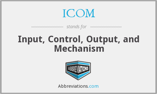 ICOM - Input, Control, Output, and Mechanism