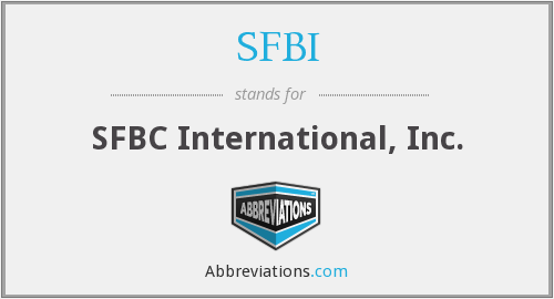 SFBI - SFBC International, Inc.
