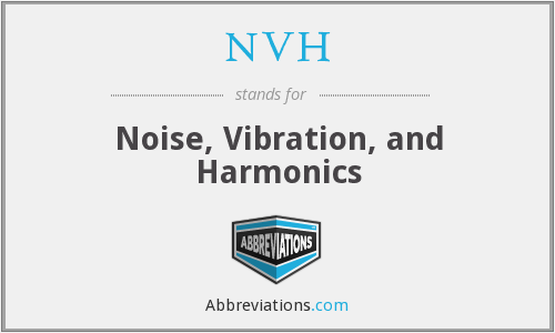 NVH - Noise, Vibration, and Harmonics