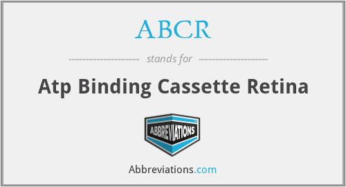 ABCR - Atp Binding Cassette Retina