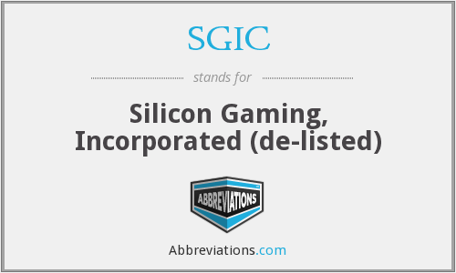 What does SGIC stand for?