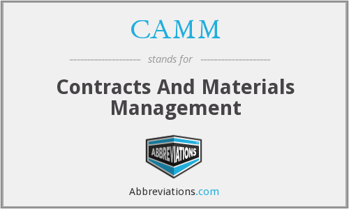 CAMM - Contracts And Materials Management