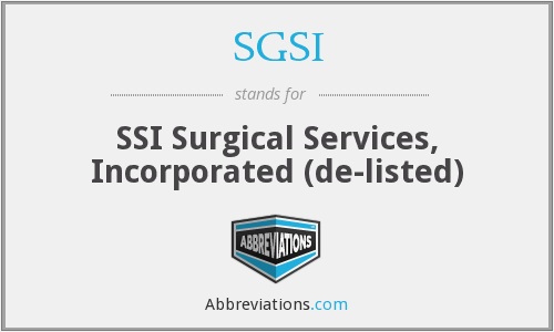 What does SGSI stand for?