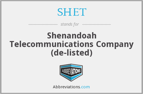 What does SHET stand for?