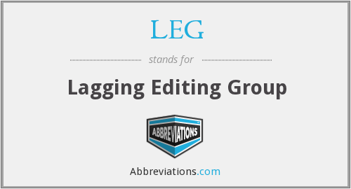 What does lagging stand for?