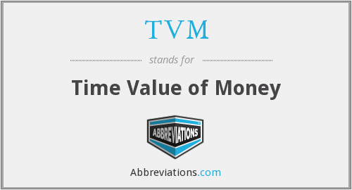 TVM - Time Value of Money