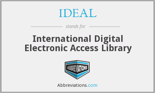 IDEAL - International Digital Electronic Access Library