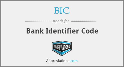 BIC - Bank Identifier Code