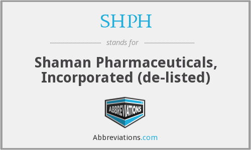 What does SHPH stand for?