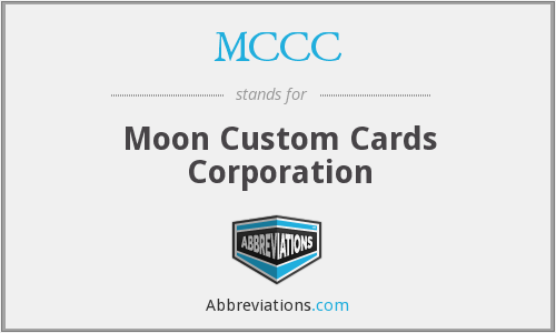 MCCC - Moon Custom Cards Corporation