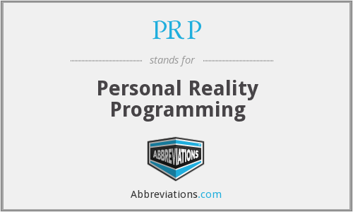 PRP - Personal Reality Programming