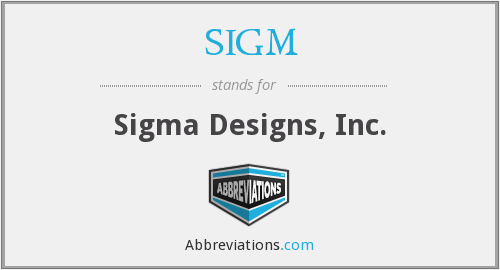 What does SIGM stand for?