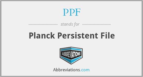 PPF - Planck Persistent File