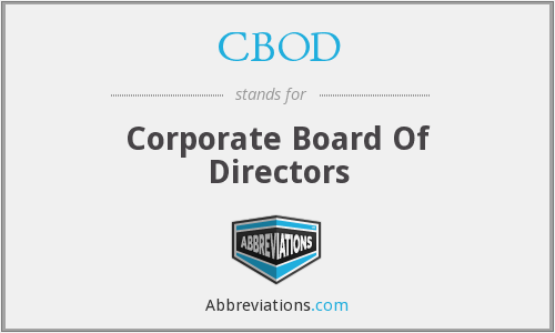 What does CBOD stand for?