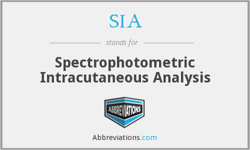 SIA - Spectrophotometric Intracutaneous Analysis
