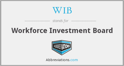 WIB - Workforce Investment Board