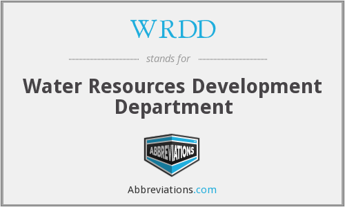 What does WRDD stand for?