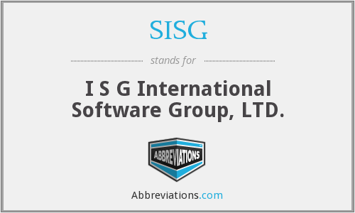 What does SISG stand for?