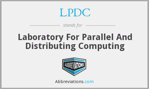 LPDC - Laboratory For Parallel And Distributing Computing