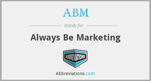 ABM - Always Be Marketing