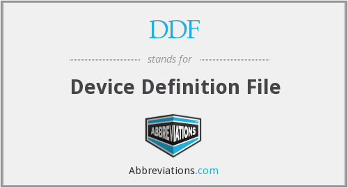 DDF - Device Definition File