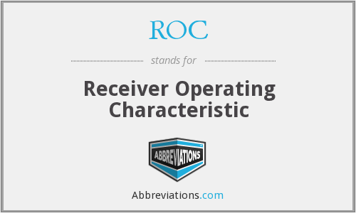 ROC - Receiver Operating Characteristic