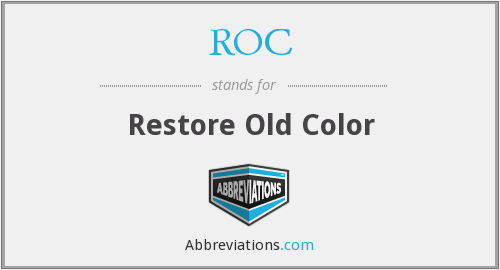 ROC - Restore Old Color