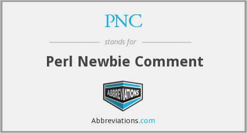 PNC - Perl Newbie Comment