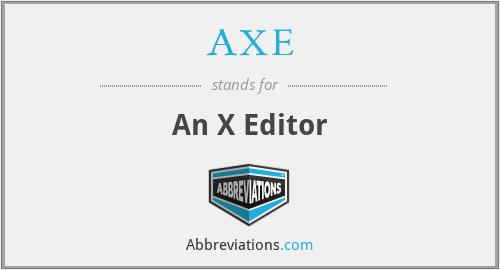 AXE - An X Editor