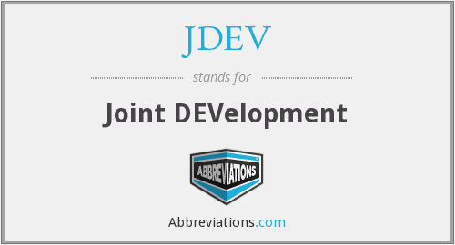 JDEV - Joint DEVelopment