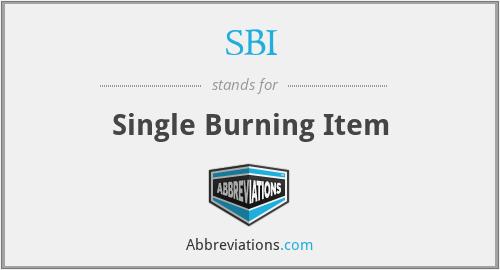 SBI - Single Burning Item