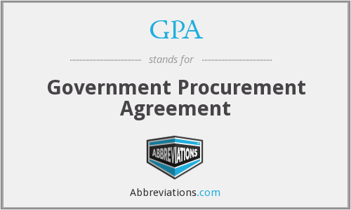 GPA - Government Procurement Agreement