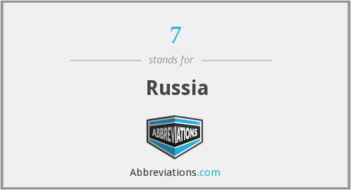 What does Russia stand for?