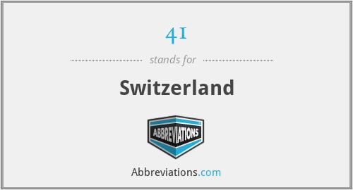 41 - Switzerland