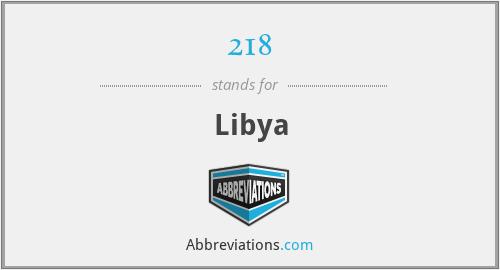 218 - Libya