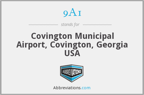 9A1 - Covington Municipal Airport, Covington, Georgia USA