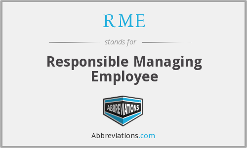 RME - Responsible Managing Employee