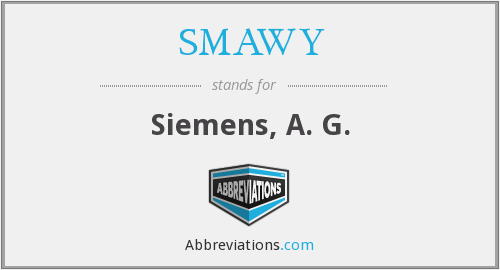 What does SMAWY stand for?