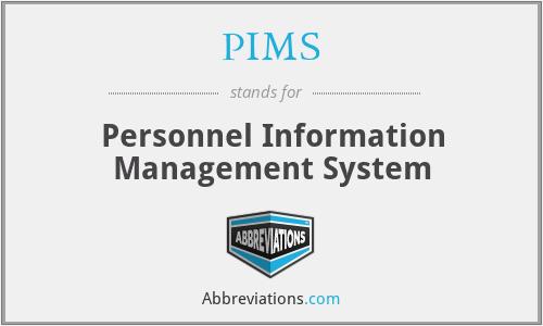 PIMS - Personnel Information Management System