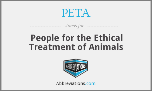 What does PETA stand for?