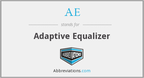 AE - Adaptive Equalizer