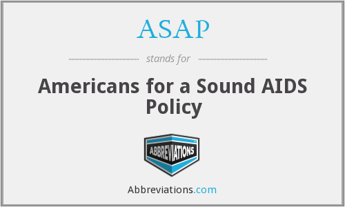 ASAP - Americans for a Sound AIDS Policy