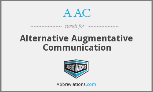 AAC - Alternative Augmentative Communication