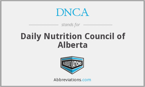 DNCA - Daily Nutrition Council of Alberta