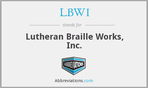 What does LBWI stand for?