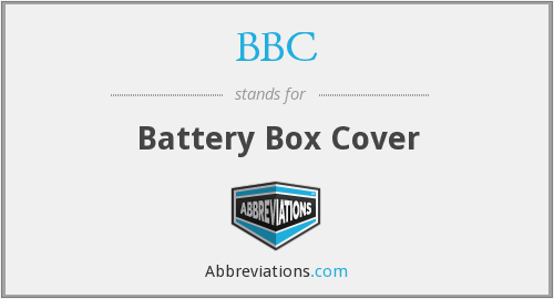 BBC - Battery Box Cover