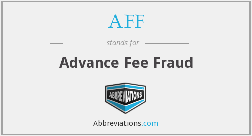 AFF - Advance Fee Fraud
